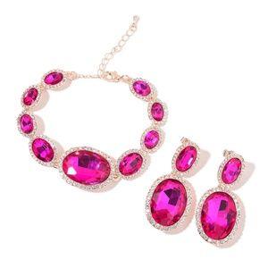 Rosetone Bracelet (7.00-9.00 In) and Earrings